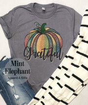 Watercolor Pumpkin Grateful Tee