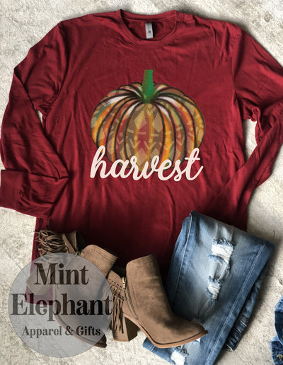Harvest Pumpkin Long Sleeve Tee