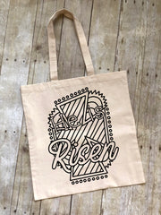 He is Risen Easter Coloring Tote Bag