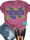 Mamacita Distressed look tee