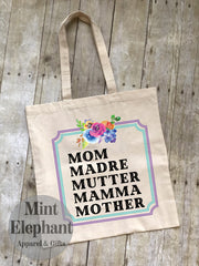 Multilingual mom Tote Bag