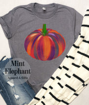 Simple Watercolor Pumpkin Tee
