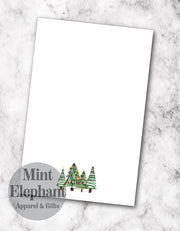Tree Group Christmas Notepad