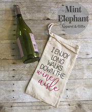 Long Walks Wine Aisle Wine Bag