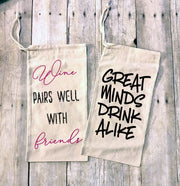 Great Minds Drink Alike Wine Bag