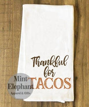 Fall Tea Towels Thankful For Tacos Wholesale