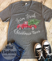 Farm Fresh Christmas Trees Tee Wholesale