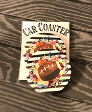 Floral Football Car Coaster