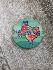 State Succulent Car Coaster