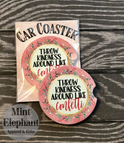 Kindness Confetti Car Coaster Wholesale