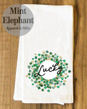 Lucky Wreath Tea Towel