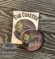 Stay Wild Car Coaster Wholesale