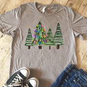 Watercolor Tree Group Christmas Tee