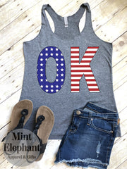 (Ws) Stars & Stripes State Abbreviation Tank Wholesale