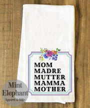 (Ws) Tea Towels For Mom Multilingual Wholesale