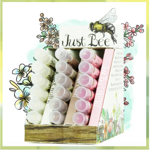Just Bee lip shimmer light collection:  Wishful, Bare, & Carefree