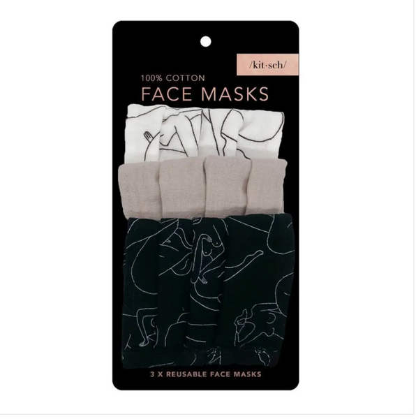 Body Positive Figure Drawing 3 piece mask set