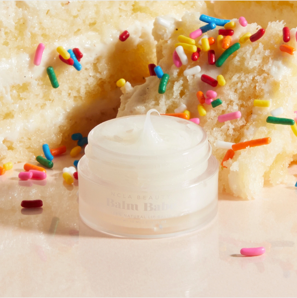 Balm Babe lip balm & scrubs:  Birthday Cake & Almond Cookie