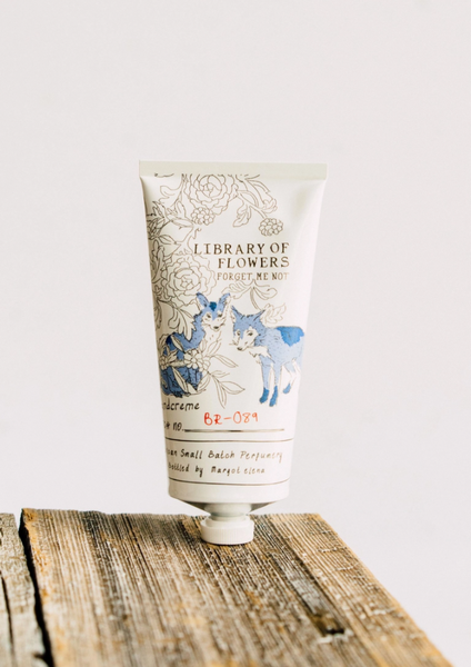 Library of Flowers:  Forget Me Not handcreme