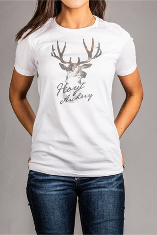 Ladies Watercolor Buck Hoyt Tee Shirt