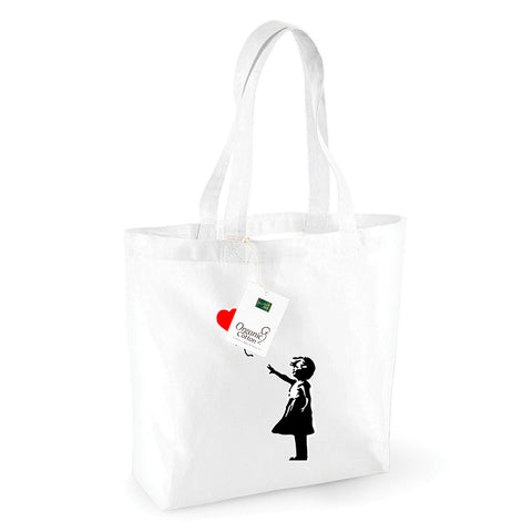 Balloon Girl Organic Shopping Bag