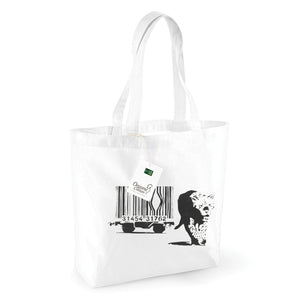 Leopard Barcode Organic Shopping Bag