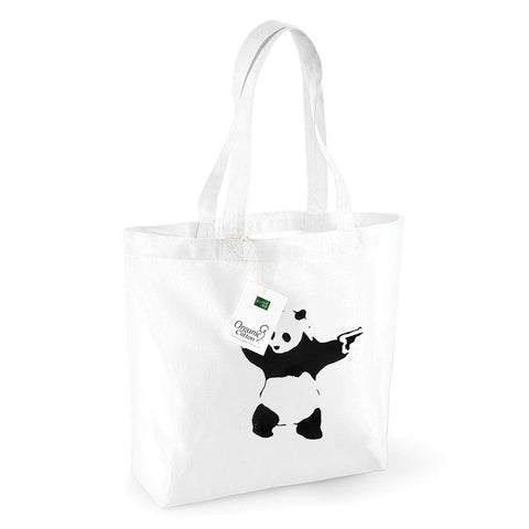 Panda With Guns Shopping Bag
