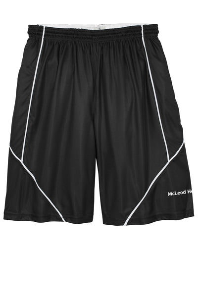 Sport-Tek® PosiCharge® Mesh Reversible Spliced Short - Black