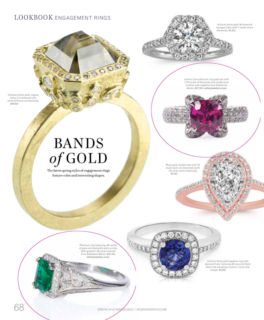 Oster Jewelers Pink Sapphire & Emerald diamond rings