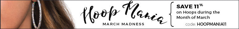 Save 11% on your next hoop earring purchase during March Madness.