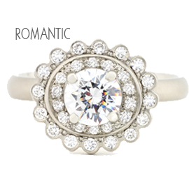 Anne Sportun Romantic Engagement Rings and Wedding Bands at Oster Jewelers