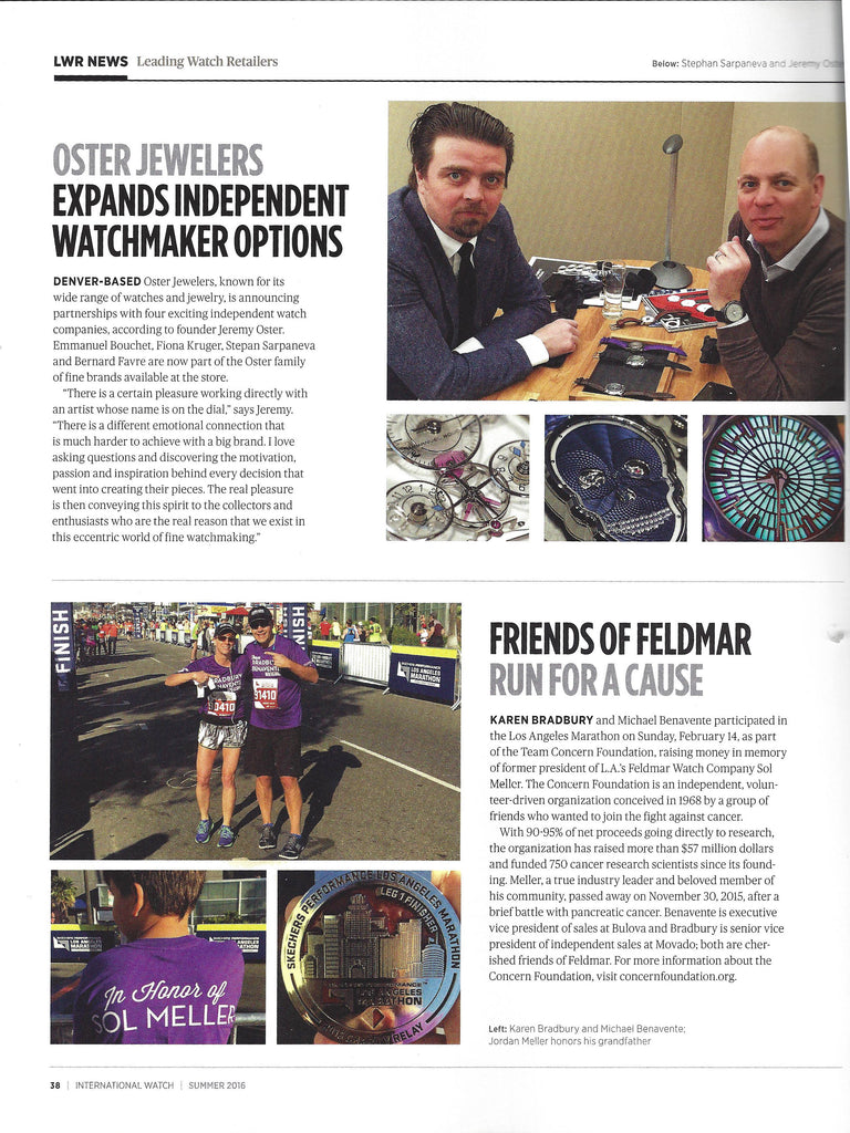 iW Magazine Summer 2016 | Focus on Independent Watch Makers