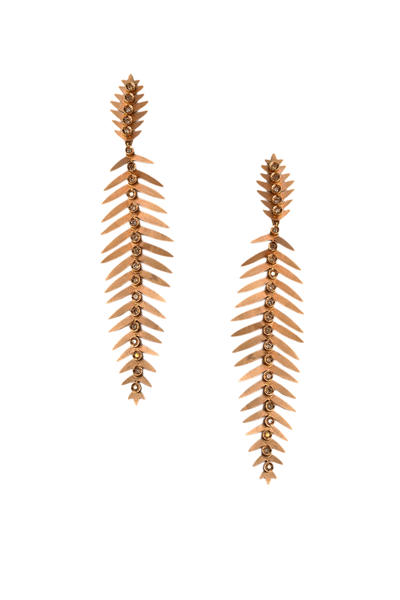 Carla Amorim Brown Diamond Grass Earrings