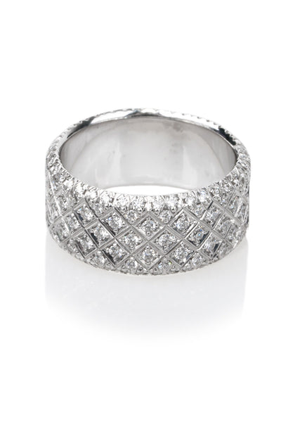 1.15ctw Wide Pave Diamond Band