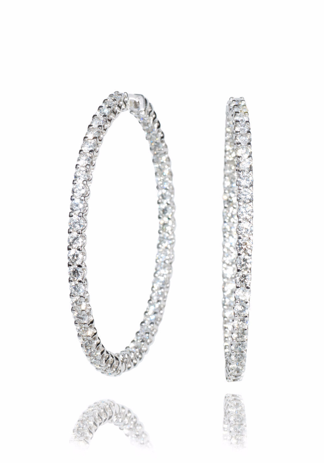 A. Link Diamond Inside/Outside Hoops 7.81ctw