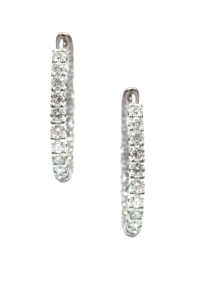 6.58ctw Diamond Inside/Outside Hoops