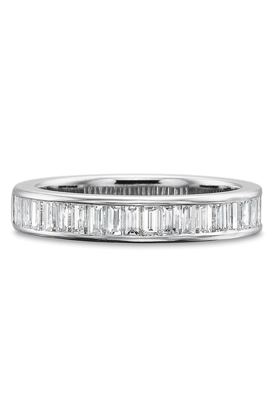 Precision Set Baguette Diamond Band