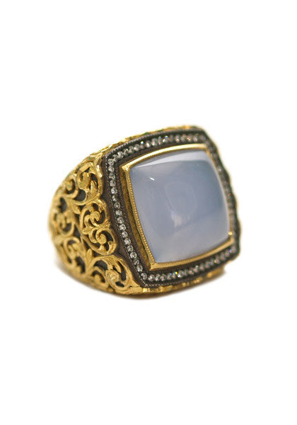 Arman Chalcedony Diamond Ring
