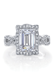Katharine James Bella's Love Emerald Cut Semi-Mount Ring