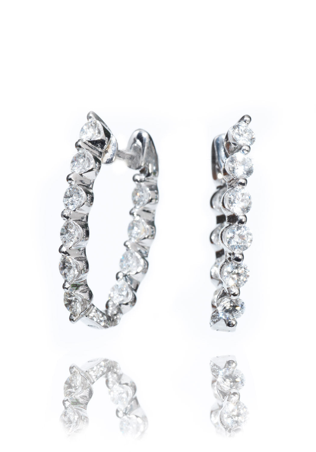 Jye's Diamond Hoop Earrings
