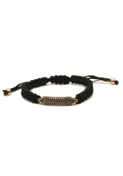 Rahaminov Black Diamond Cord Bracelet