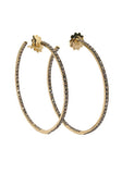 Garavelli Brown Diamond Hoops