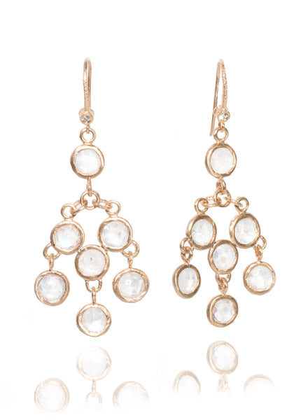 Dominique Cohen Moonstone Dreamcatcher Earrings