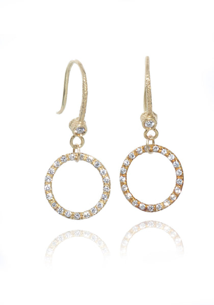 Dominique Cohen Micro Diamond Round Earrings