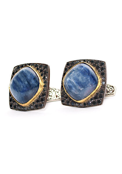 Arman Kyanite & Black Diamond Cufflinks