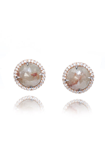 Rahaminov Grey Diamond Stud Earrings