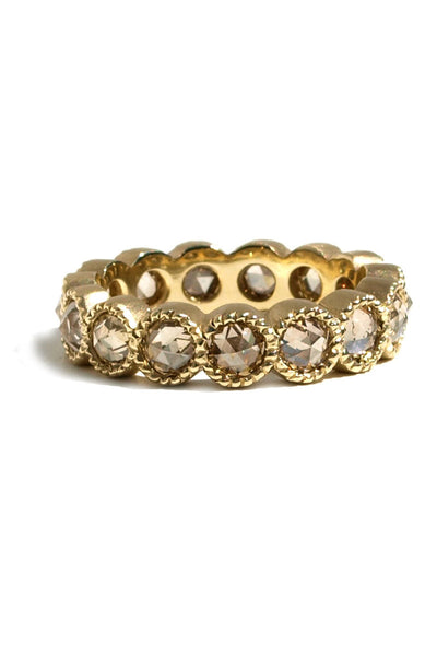 Sylva & Cie Champagne Rose Cut Diamond Eternity Band