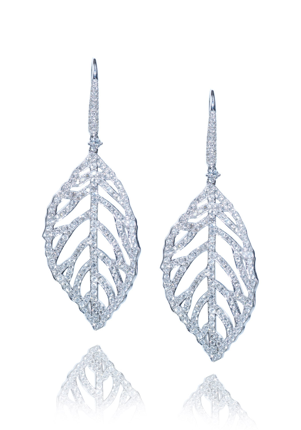 Oster Collection Pave Diamond Leaf Drops