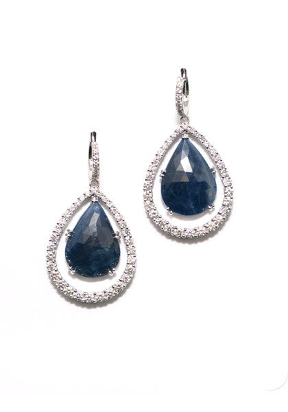 Garavelli Sapphire & Diamond Dangle Earrings