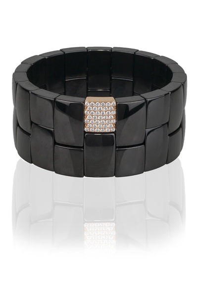 Roberto Demeglio Diamond Black Ceramic Bracelet